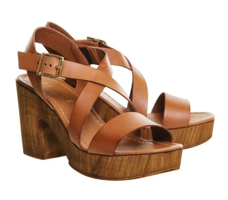 Office Michigan cross strap sandals