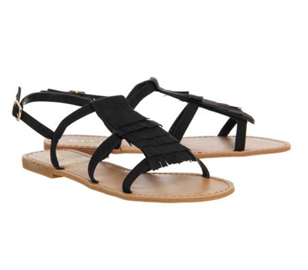 Office Barbados fringed sandals