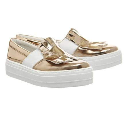 Office Drama queen flatform slip on trainers