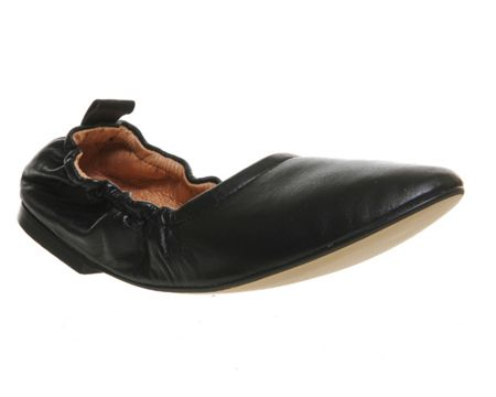 Office Dash softy elasticated ballerina flats