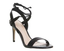 Office Midnight strappy ankle tie sandals