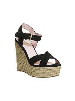Ahoy cross strap espadrille wedge