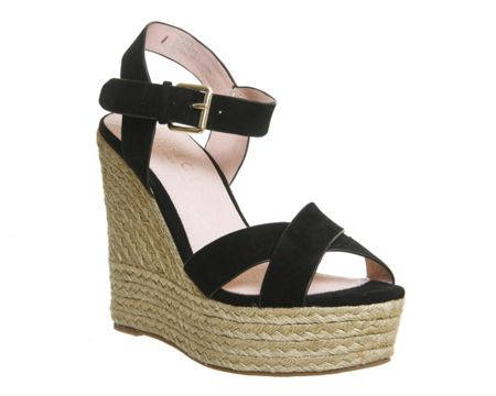 Office Ahoy cross strap espadrille wedge