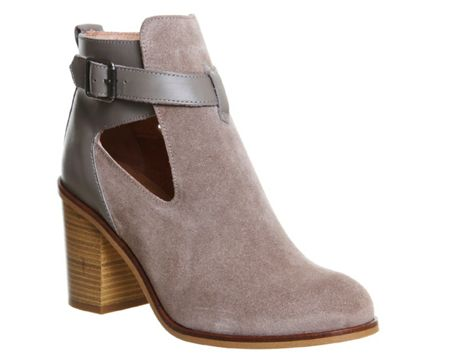 Office Jade cut out boots