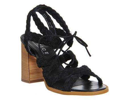 Office Axis flared heel sandals