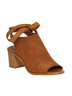 Morocco cuff ankle tie sandals