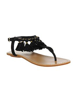 Bumble fringed sandals