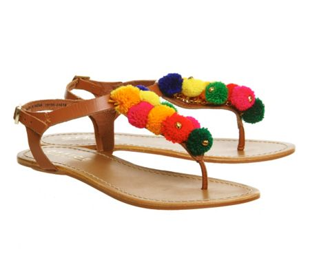 Office Bobble pom pom sandals