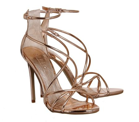 Office Angel tubular strap sandals