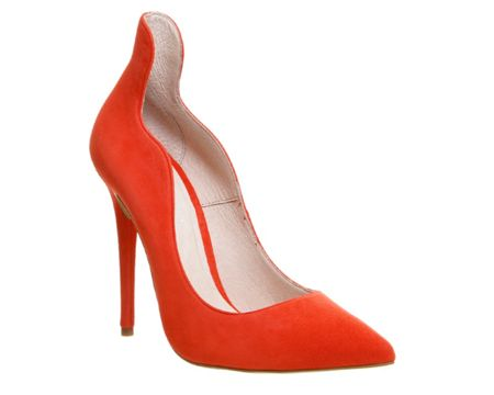 Office Trouble high back point court heels