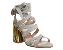 Office Ashley tie ankle strap heeled sandals