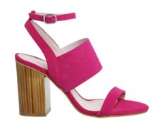 Office Time 3 strap block heel sandals