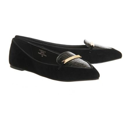 Office Petite metal trim pumps