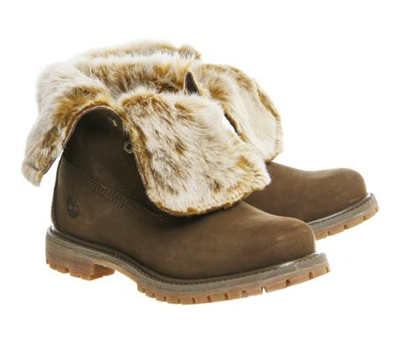 Timberland Fur fold down boots