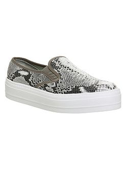 Disco flatform slip on trainers