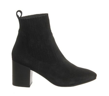 Office Lashes block heel chelsea boots