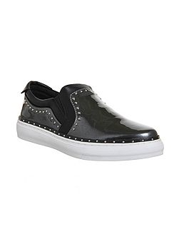 Precious studded slip on trainers