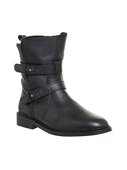Loaded multi strap biker boots