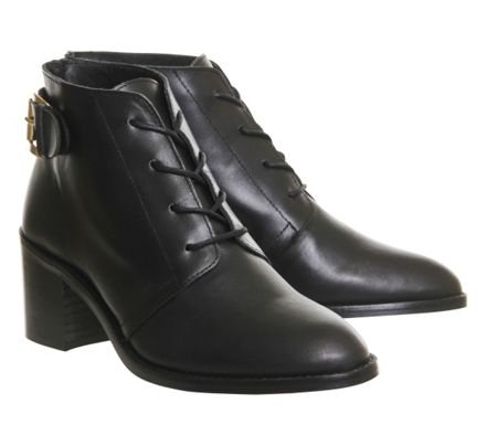 Office Lacey lace up mid heel boots