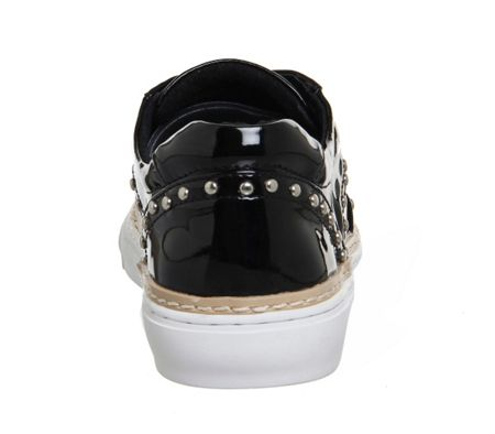 Office Proud studded lace up trainers