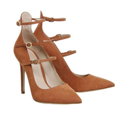 Office Noted 3 strap point court heels