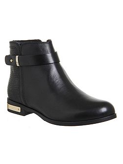 Lance flat strap ankle boots