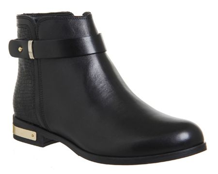 Office Lance flat strap ankle boots