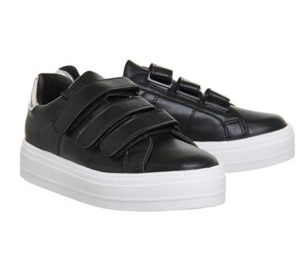 Office Player velcro strap trainers