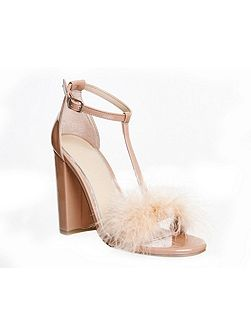 Native fluff detail sandals