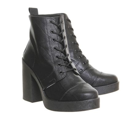 Office Live wire chunky lace up boots
