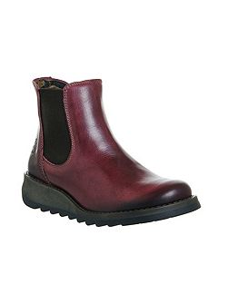 Salv low wedge chelsea boots