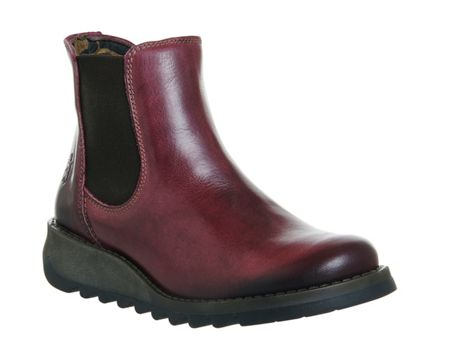Fly Salv low wedge chelsea boots