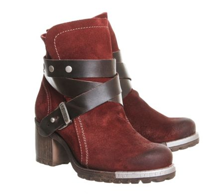 Fly Lok strap ankle boots