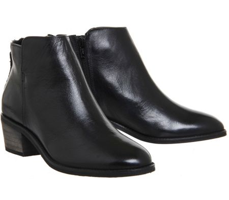 Office Library casual back zip boots