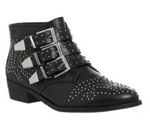 Office Lucky charm studded boots