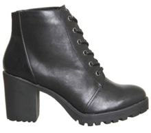 Office Leaderboard chunky lace up boots