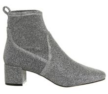 Office Lurex mid heel boots