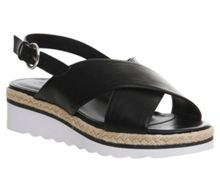 Office Saturn cross strap espadrille sandals