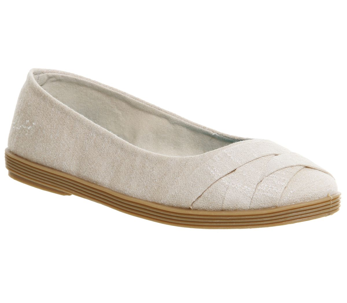 Blowfish Glo pump flats, Cream