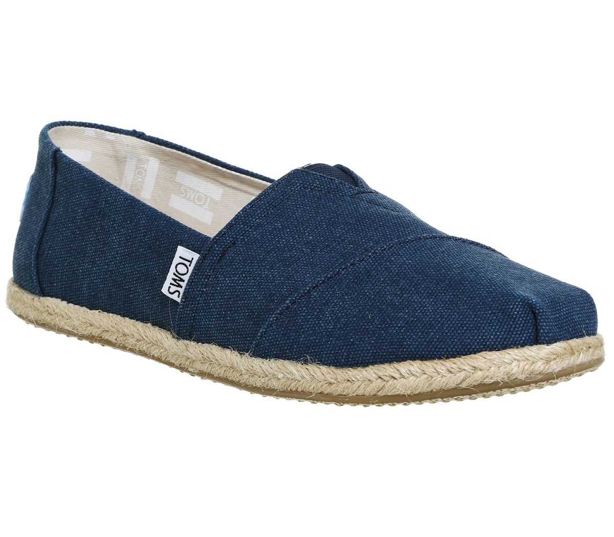 Toms seasonal classic slip on pumps blue octer for Quality classic house of fraser