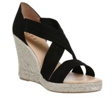 Office Holiday cross front espadrille wedges