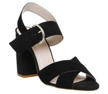 Office Nigella cross strap block heels