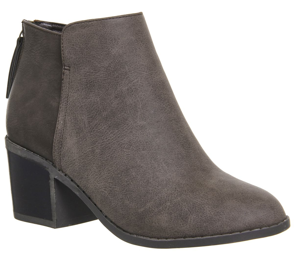 Office Ace Back Zip Boots, Chocolate