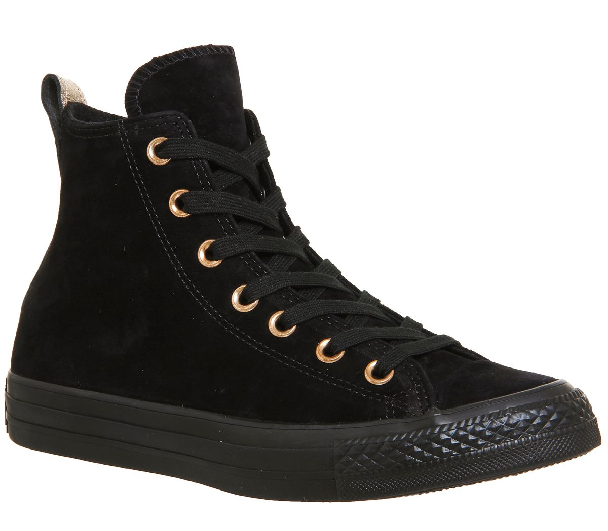 Converse Converse All Star Hi Leather Trainers, Black Suede