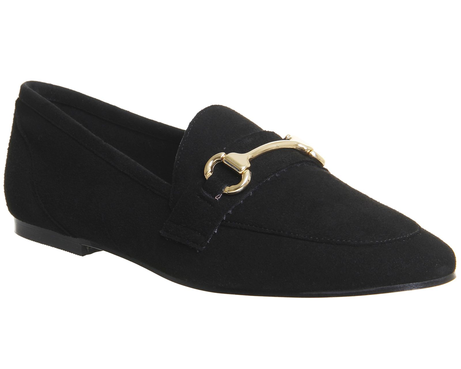 Office Destiny Trim Loafers, Black Suede
