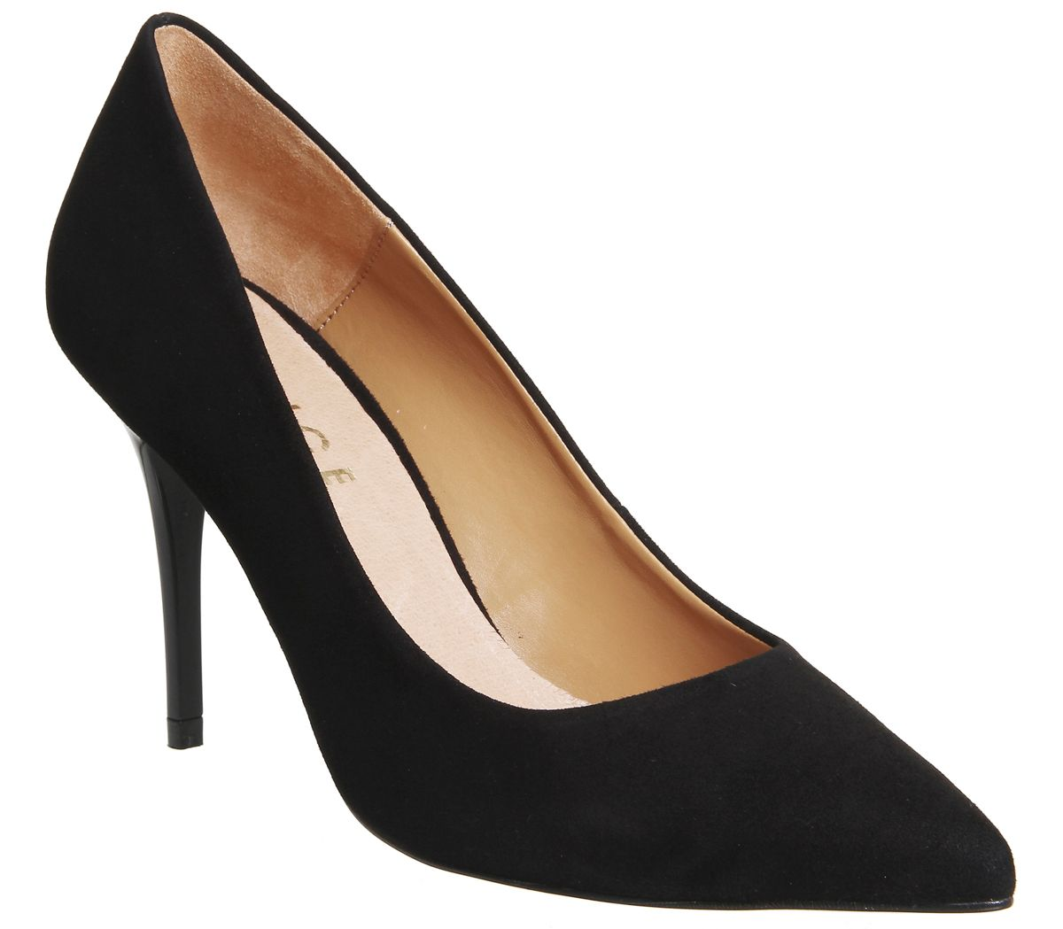 Office Graduate Point Court Heels, Black