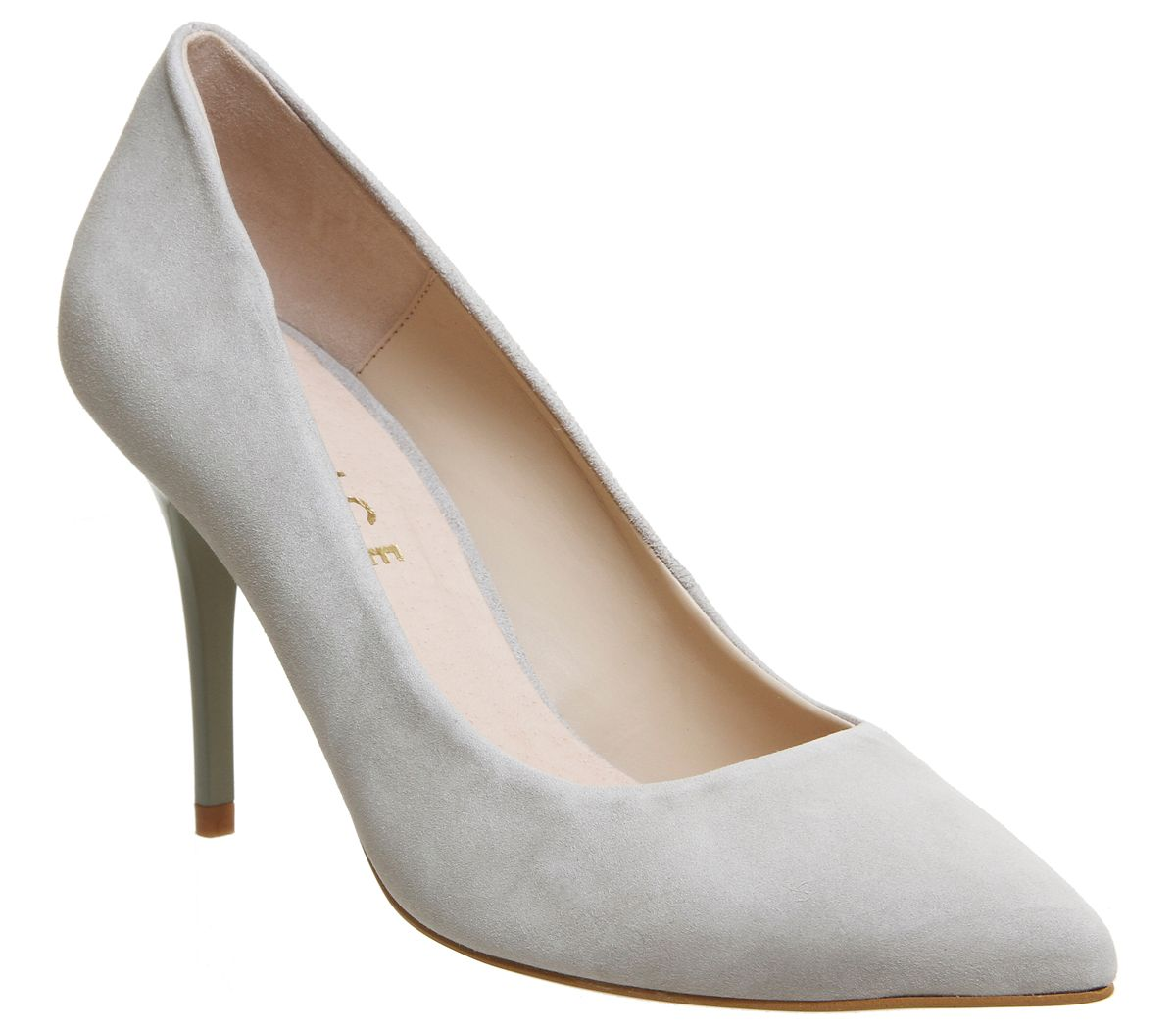 Office Graduate Point Court Heels, Grey