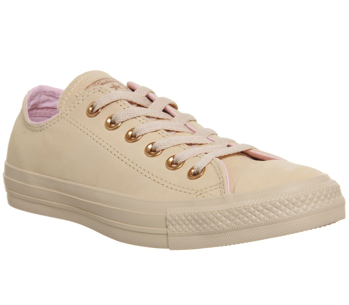 Converse All Star Low Leather Trainers, Ginger