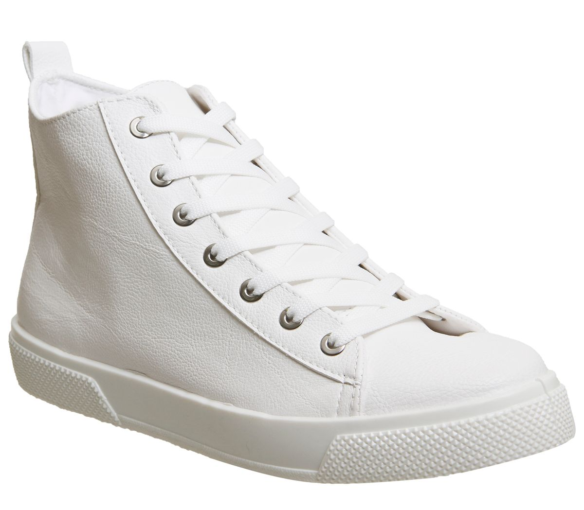 Office Freeze High Top Trainers, White