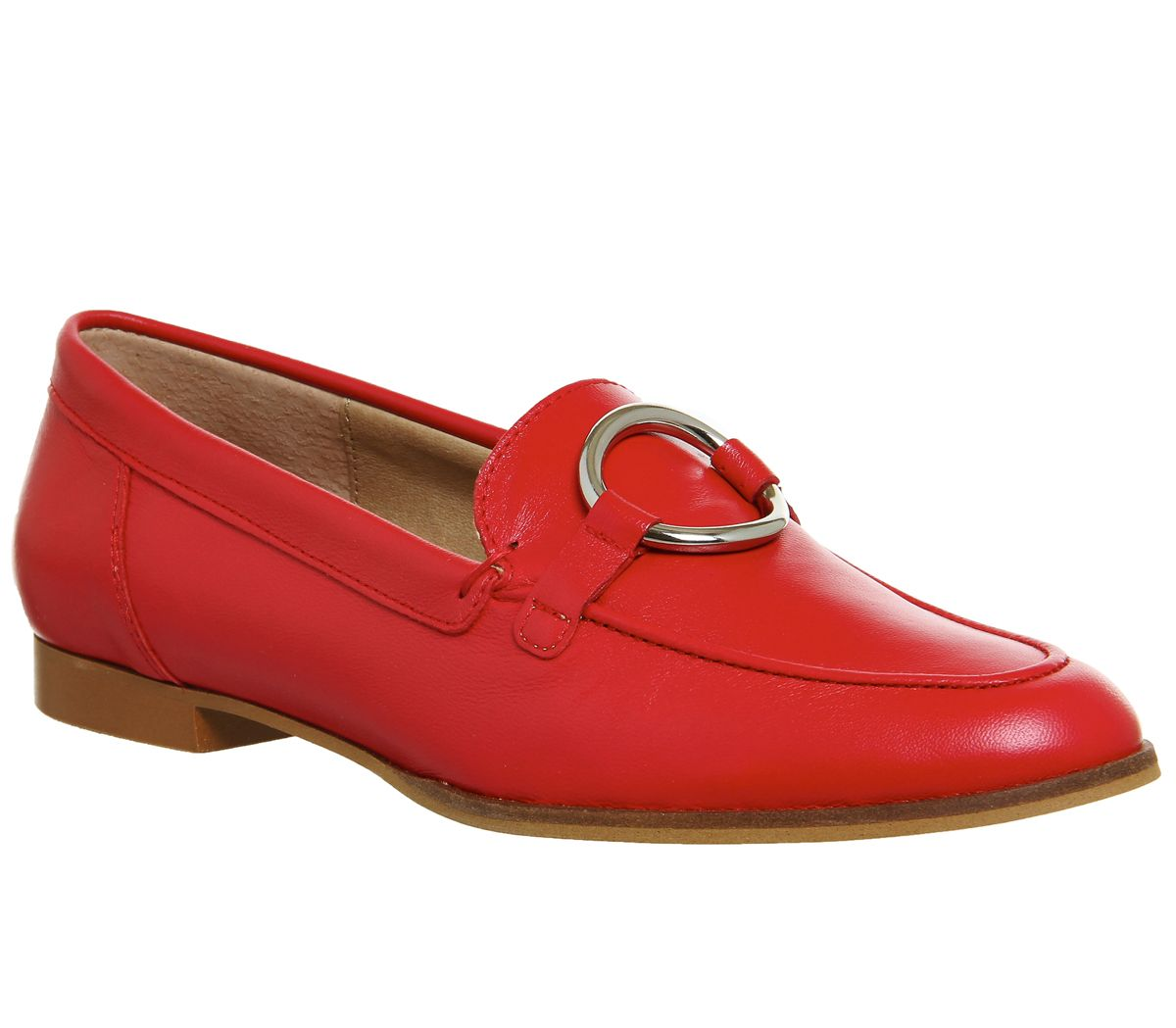 Office Flavia Ring Detail Loafers, Red Multi